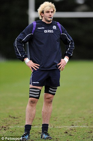 Dropped: Richie Gray has been omitted from the Scotland starting line-up