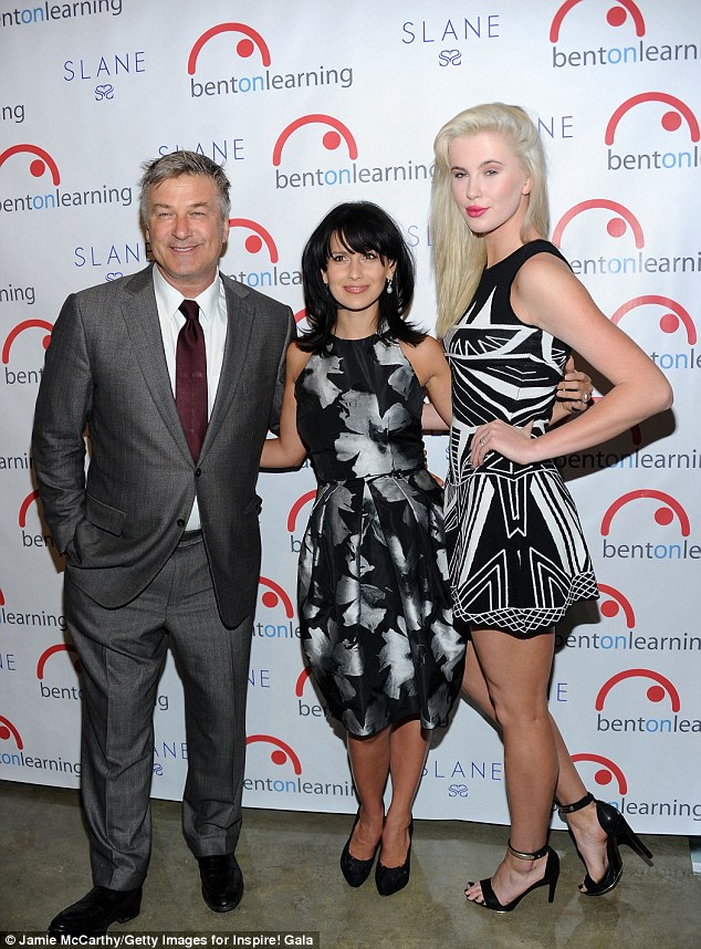 Glamazon! Alec Baldwin and his wife Hilaria were dwarfed by his 6ft2in daughter Ireland on the red carpet of the Inspire Gala in Manhattan Wednesday