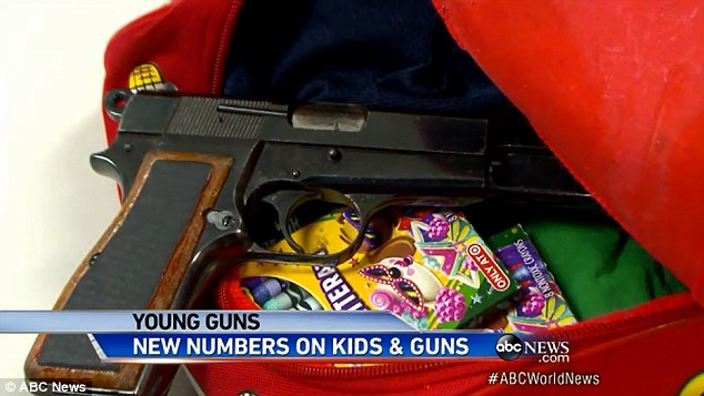 Hidden: The guns were placed in parts of the classroom the children would go to and were easily accesible