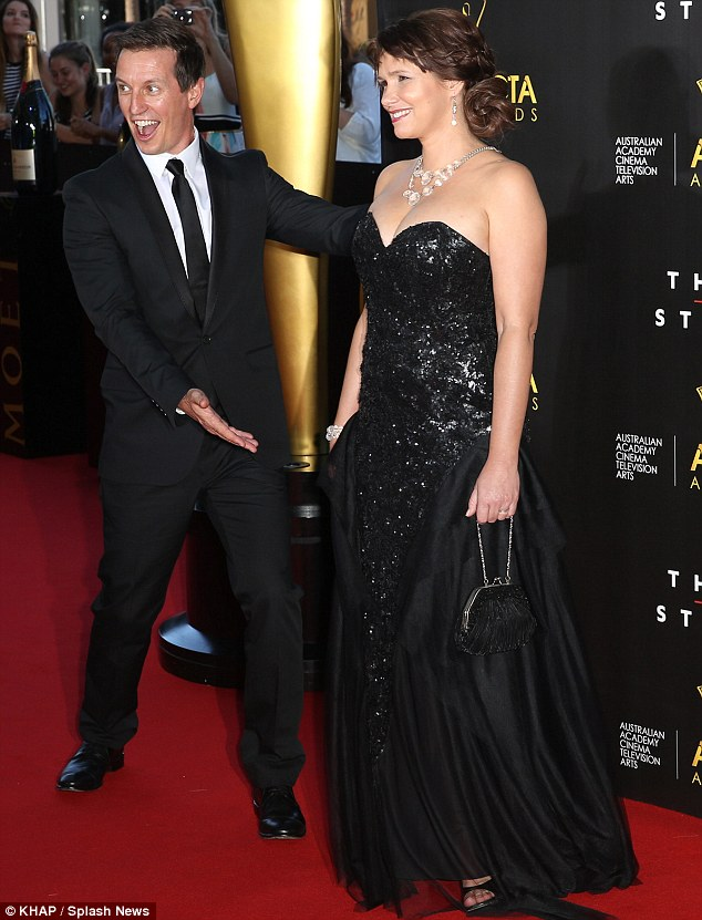 So proud: The comedian was delighted to support his wife on her big night