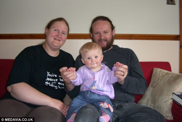 Gail (left), daughter Jasmine (centre) and husband Steven (right) were determined to complete their family by having a second child
