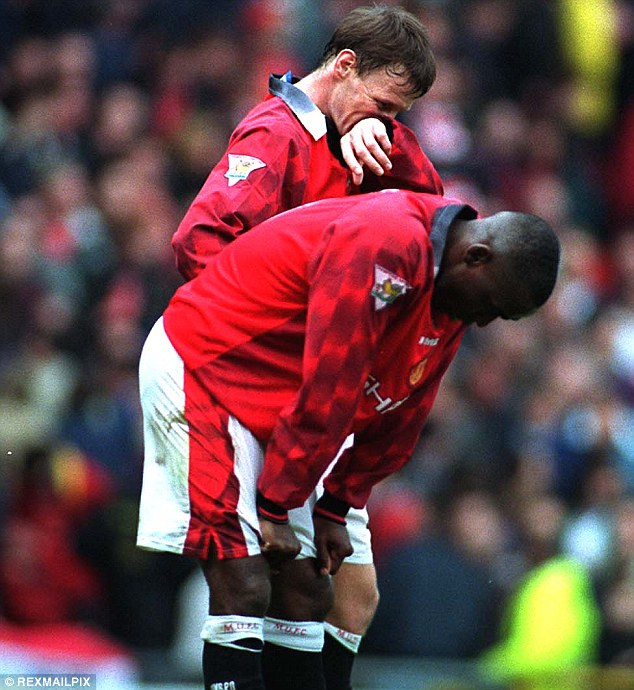 Not on speaking terms: It was no secret Teddy Sheringham and Andy Cole disliked each other