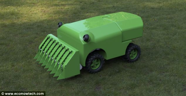 Is this the future of gardening?  U.S. students have created a prototype autonomous machine (pictured) that not only cuts grass in a specified area, but uses the waste cuttings to power itself - potentially saving gardeners both time and money
