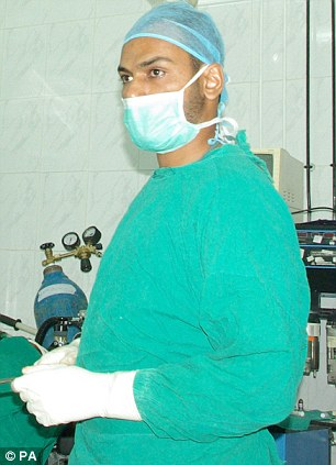 Expert: Dr Abbas Khan in an operating theatre (location not given)