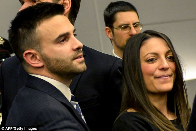 Although Meredith's siblings were able to raise a slight smile following the verdict, both had red eyes and were clearly emotional