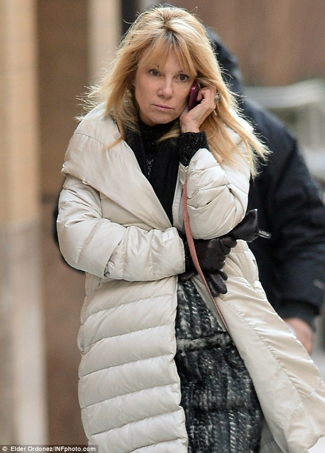 Calling it quits: Ramona Singer was pictured for the first time on Thursday after it was claimed that the Real Housewives star had filed for divorce from her husband Mario