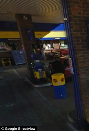 The petrol station's till showed no fuel had been drawn from the pump he used