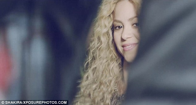 Got a secret: Shakira gives the viewer a come-hither look