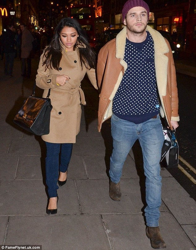 Snubbed: Vanessa White and boyfriend Gary Salter kept their heads down as they walked to the event