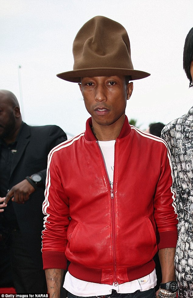 Stole the show: The 40-year-old musician wore an oversized brown fedora hat to the Grammys on Sunday, which has since become a Google phenomenon