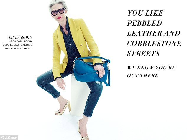 Pop of color: Ms Rodin has also starred in campaigns for J.Crew