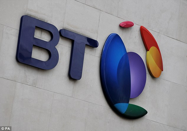 Broadband boost: BT Group added 150,000 broadband customers in the third quarter, with many lured in by a package including 38 top-flight football matches a season