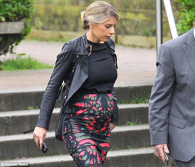 Expecting: Walcott's wife Melanie Slade is pregnant, and the prospect is helping him get through the pain