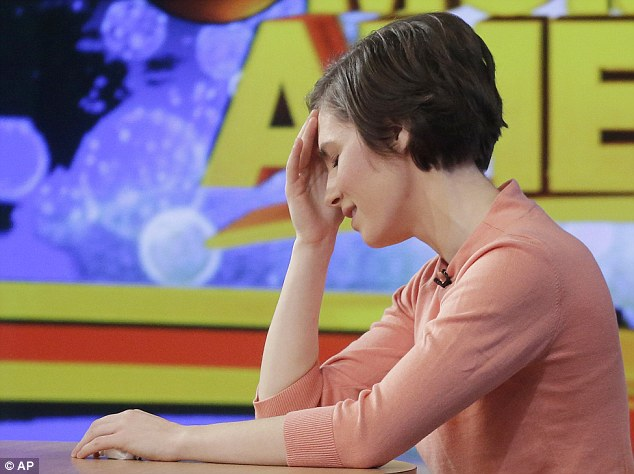 Appearance: Knox was emotional when she appeared in a television interview