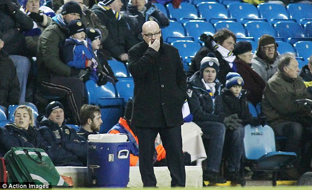 He's out: Brian McDermott has been sacked as Leeds boss after a poor run of form