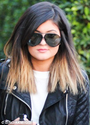 Freshening up! Kylie Jenner, 16, made a quick dash to the hair salon on Friday