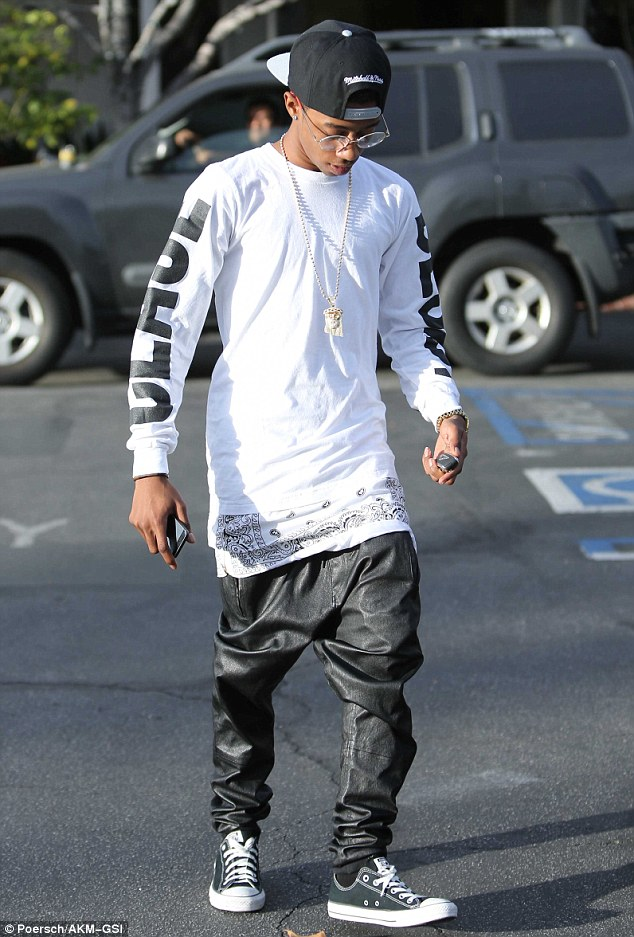 Just friends? Lil Twist - pictured her in West Hollywood on Friday - has been romantically linked to Kylie Jenner
