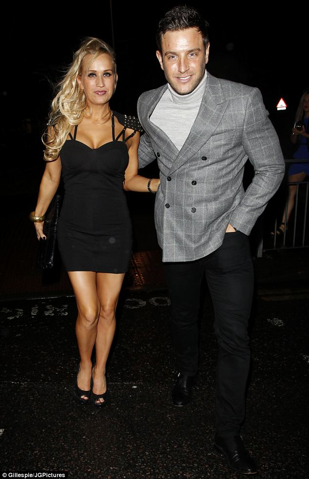 Dapper: Elliot Wright poses with his sister Leah, who was celebrating her birthday at Funky Mojoe nightclub in London