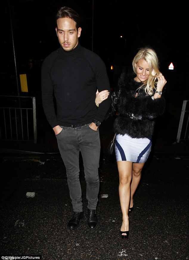 Special guests: TOWIE's James Lock and girlfriend Danielle Armstrong were also seen leaving Funky Mojoe