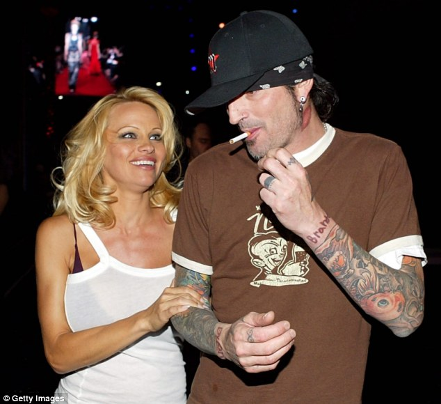 Blame game: Sufferer Pamela Anderson claims she got Hepatitis C from her ex-husband Tommy Lee after they shared tattoo needles