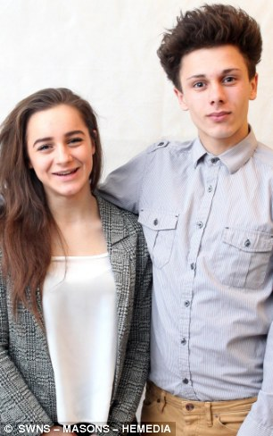 James Pidwell aged 16, from Newton Abbot, Devon, and his sister Katie aged 14. James saved the life of his sister Katie after she has a seizure resulting in a blocked airway