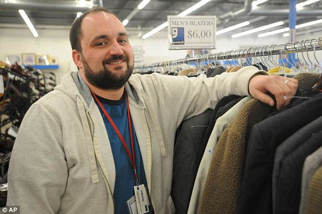 Good man: Tyler Gedelian, manager of the Monroe Goodwill store, found $43,100 in some donated clothing and returned it to its owners