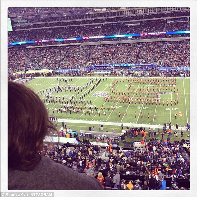 Her first game! Super Bown XLVIII was Miranda's first time at the huge sports event