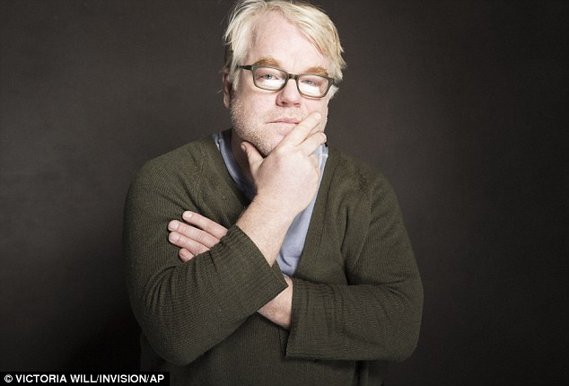 Pensive: Hoffman didn't give any interviews at Sundance but did grace the red carpet