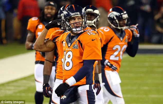 Disbelief: Manning can't believe how the game unfolded