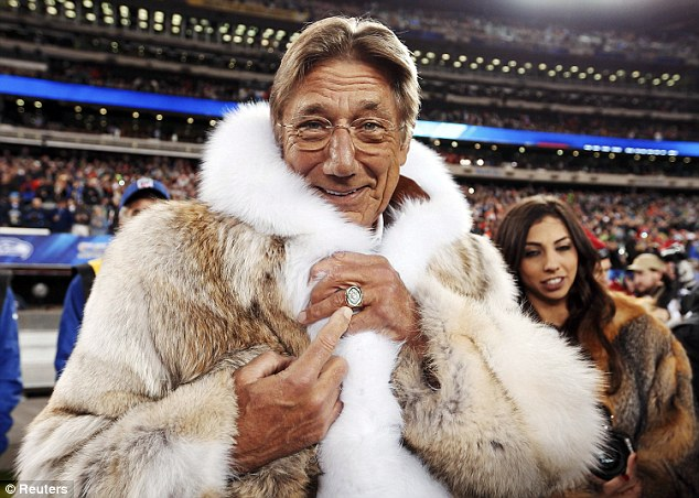 Wrapping up: former Super Bowl winner Joe Namath was at the game