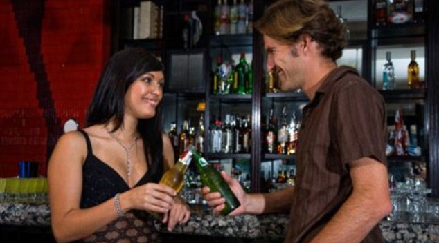 Cheesy chat-up lines are not always welcome - but an offer of a drink is likely to be more successful