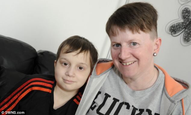 Reece Puddington (pictured with his mother, Kay) has terminal cancer. He and his family have taken the heartbreaking decision to cease the treatment that is prolonging his life