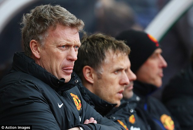 Tough times: New manager David Moyes has had a difficult start at Old Trafford, typified by the weekend defeat away at Stoke City