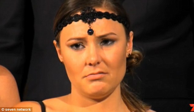 Not happy: Kelly certainly doesn't look pleased during judging on Tuesday night's episode