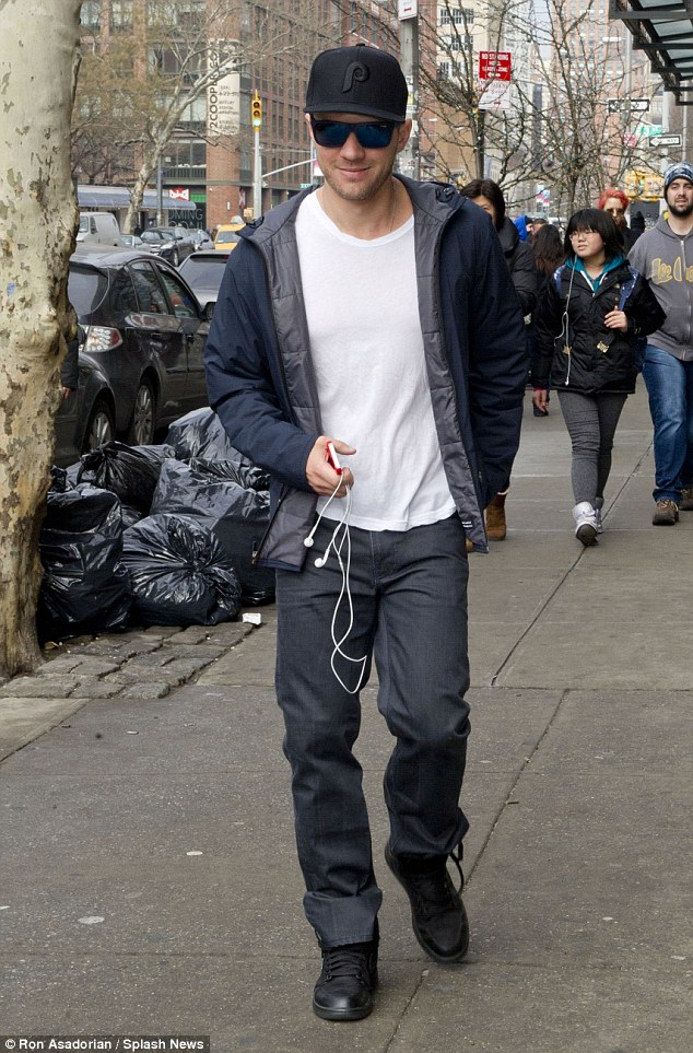 All smiles: Ryan Phillippe was spotted fully clothed in NYC on Sunday, two days after performing a shirtless lap dance at Howard Stern's birthday