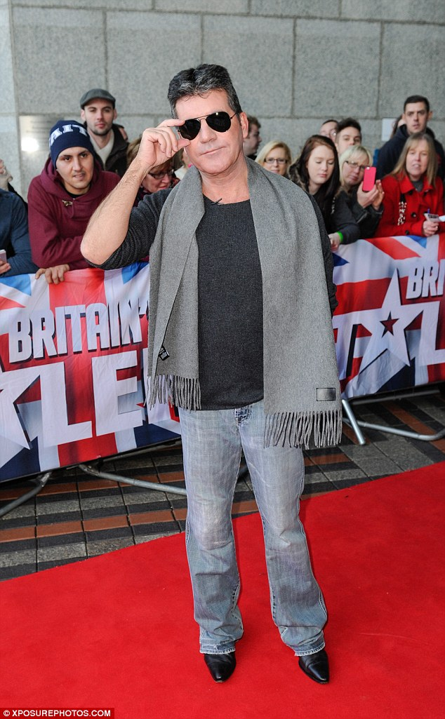 Suave: Simon was dressed to thrill at the auditions at the weekend
