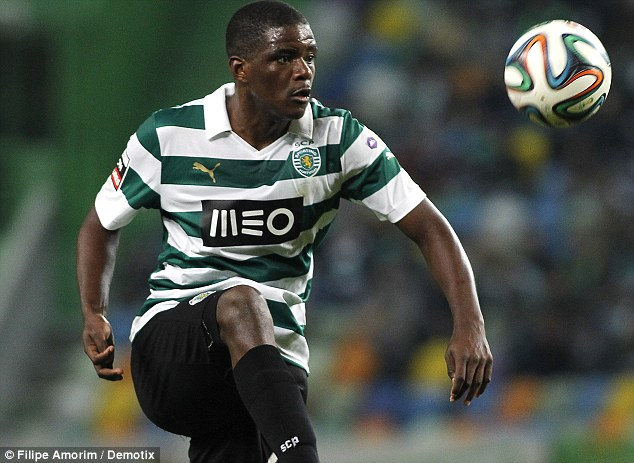 Target: Arsenal have been watching Sporting Lisbon's William Carvalho