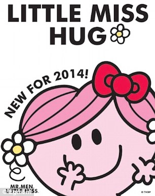 New arrival: Little Miss Hug has become the next character to entire the Mr Men and Little Miss library