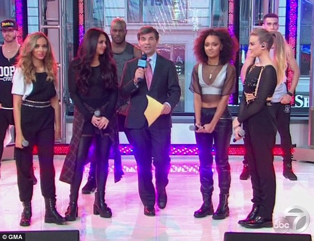 Much more youthful: The band performed their single Move on Good Morning America