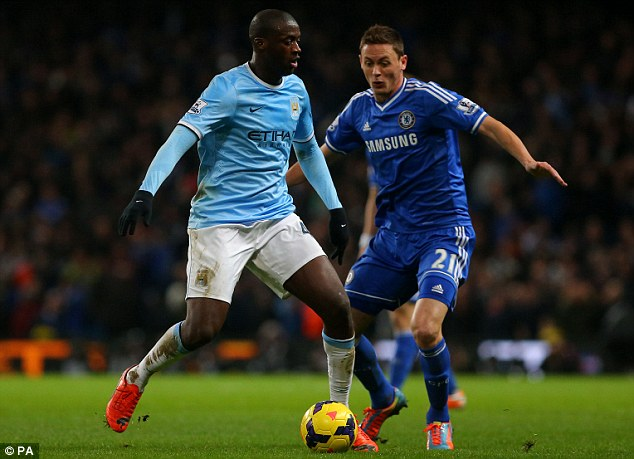 Pressing: Toure was given barely any time to settle in the middle of midfield by the visitors