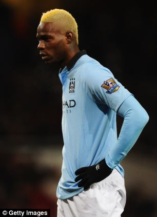 Divisive character: Balotelli (pictured) endured a turbulent time at former club Manchester City