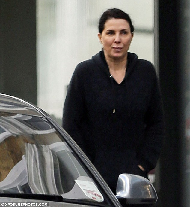 Hooded: Sadie wore a hooded top for her meeting with ex-husband Jude on Tuesday afternoon