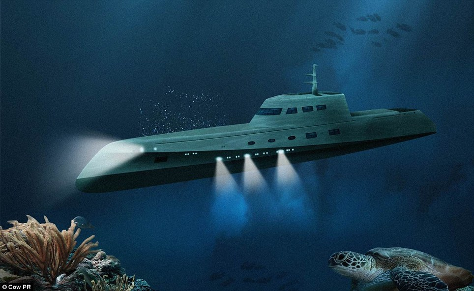 Get low: This artist's impression shows what the submarine could look like under the water