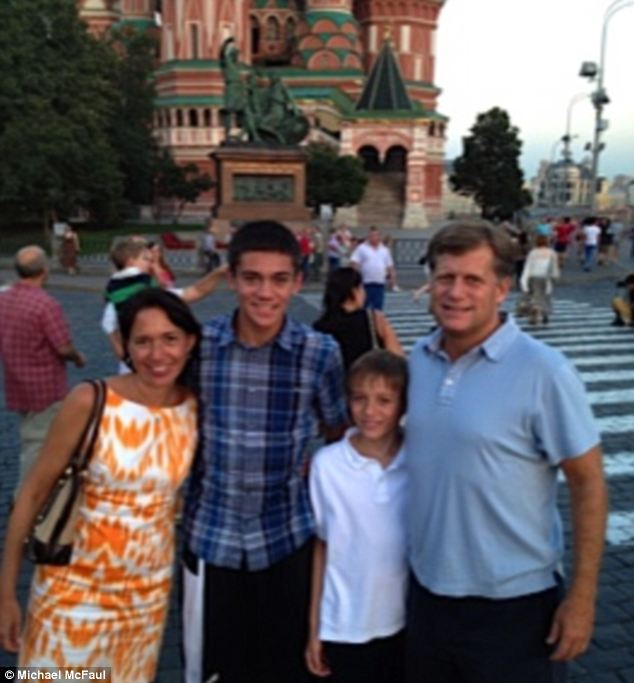 Familial obligations: McFaul's family lived in Russia with him for the first half of his tenure but has since returned to California