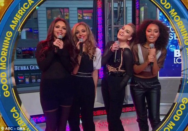 Good Morning: The girls woke up early to appear on the American television show