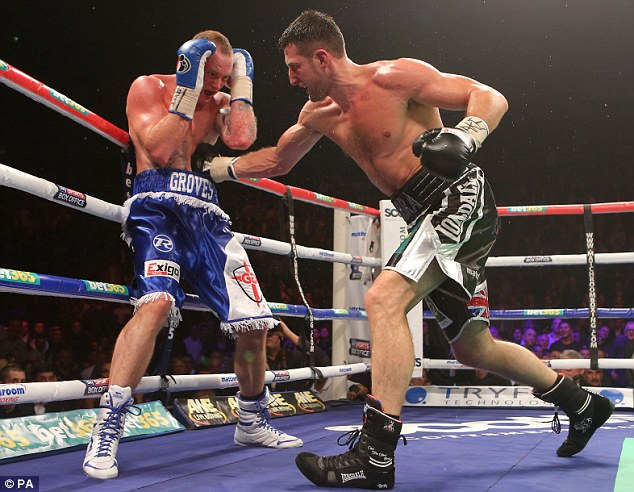 Hit-back: The fierce rivals are at an impasse as they negotiate a rematch, which has been ordered by the IBF