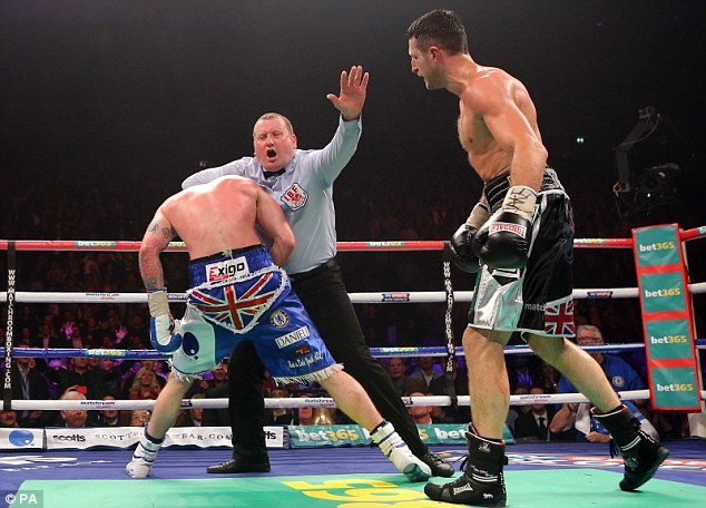 Controversy: Howard Foster stopped the November fight in Froch's favour with a headlock on Groves