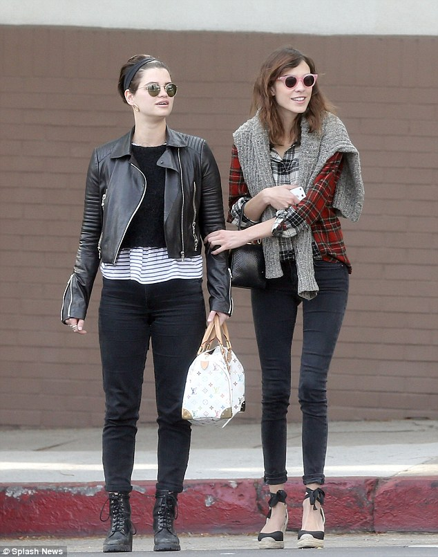 BFFs together forever! Pixie was pictured hanging out with Alexa Chung last week in LA, while opting for an altogether more wintry look
