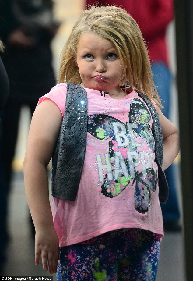Fresh new look! Honey Boo Boo showed off her longer blonde locks as she arrived at Good Morning America in New York on Wednesday