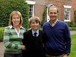 Deluge of problems: Wendy and Chris Wreghitt with son Jim at their Powick home